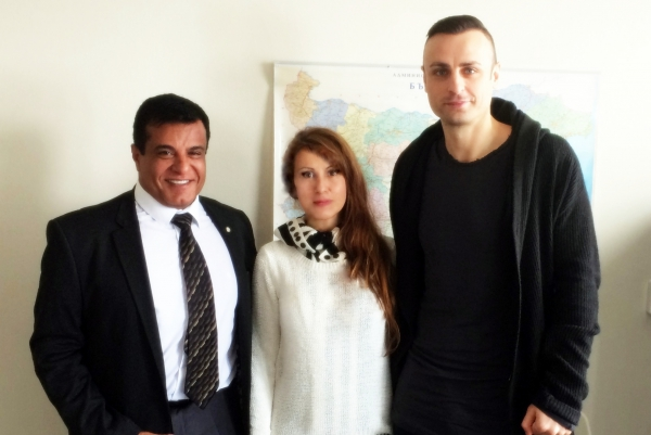 "Mr. Avinoam Katrieli, President of Foundation ""I love BG"" and President of BCCBI met Mr. Dimitar Berbatov and the Managing Director of Foundation ""Dimitar Berbatov"" and Chairman of the Board, Ms. Dimitrina Hodjeva"